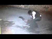 מזעזע!!! סודני שודד אשה וחובט את הראש שלה בכביש
