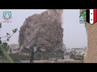פצצה מסיבית בבסיס צבאי בסוריה