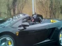 באטמן נתפס נוהג בלמבורגיני