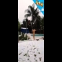 קופץ לבריכה בשיא הקור בישראל! הכל שלג מסביב!