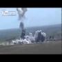צפו: מכונית תופת של דאע''ש פוגעת במטען צד ועפה לשמיים