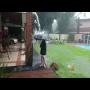 קשה לצפייה: יצא לשחק בחצר בגשם והוכה על ידי ברק
