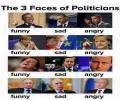 3 פנים של פוליטיקאים
